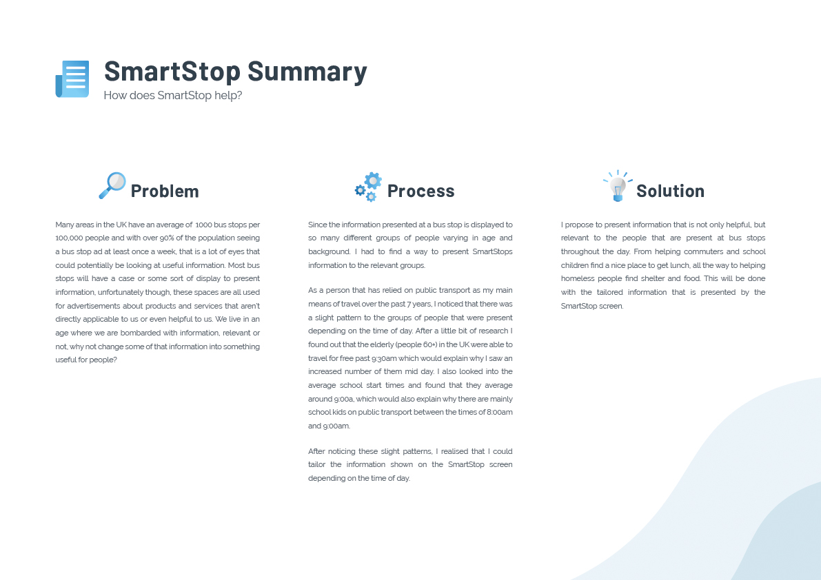 This image covers the problem, process and solution SmartStop aims for.