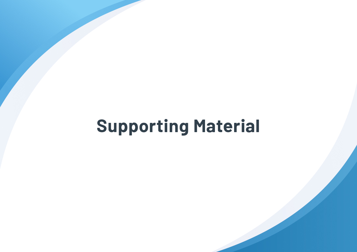 Image that shows a title of supporting material