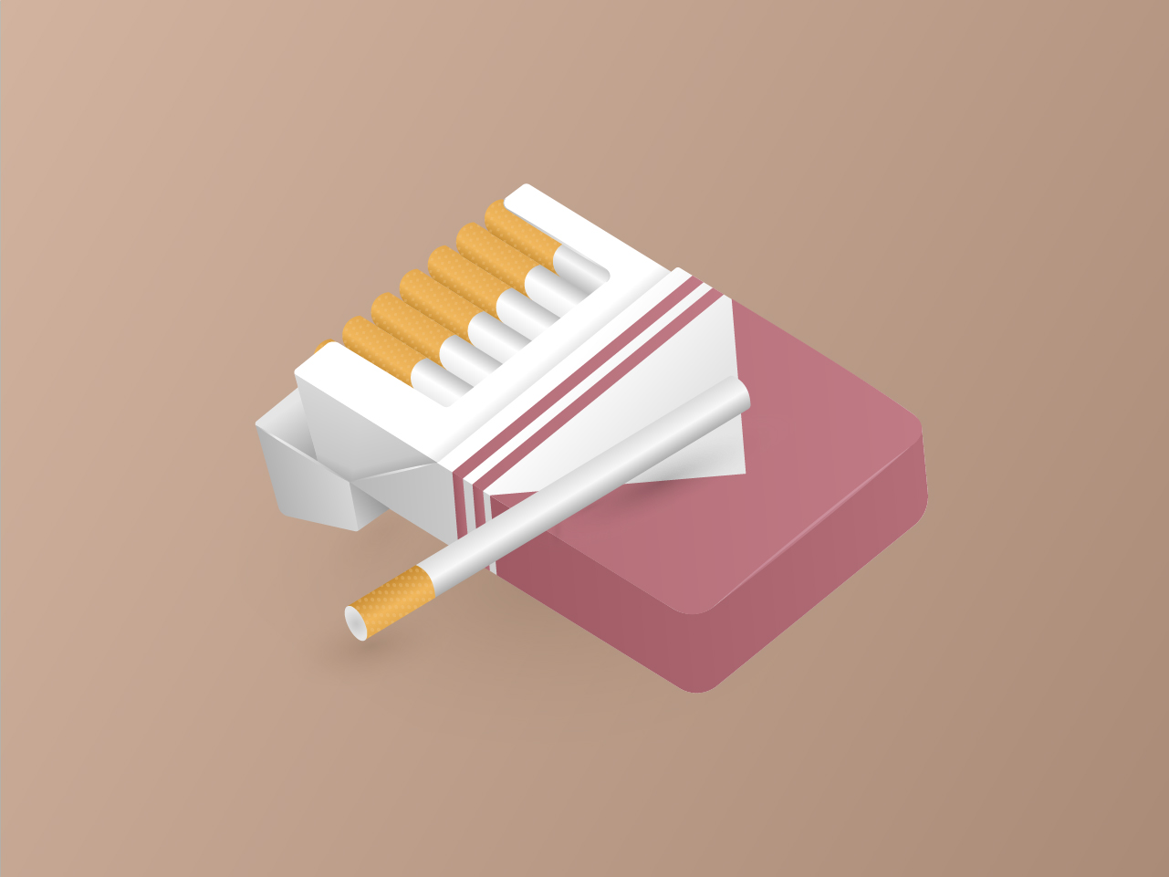 Illustration of a cigarette packet